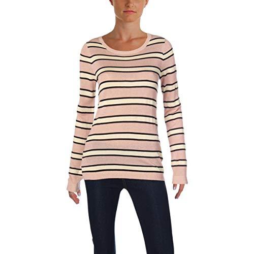 Scotch & Soda Womens Metallic Striped Pullover Sweater Pink XL (Scotch And Soda Sweater)