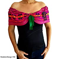 Blusa Mexicana Con Rebozo de Cambaya Plus Size Hecho Sobre Medida Patria Independencia Mexico