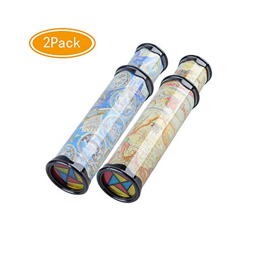 2Pack Mseeur magic kaleidoscope,best birthday gift for children.(Two -