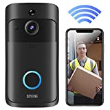 Video Doorbell Camera HD WiFi Doorbell Wireless Operated Motion Detector Audio&Speaker Night Vision for iOS&Android (Color: Doorbell)