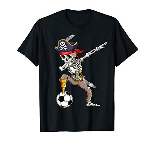 Dab Skeleton   Dabbing Skeleton Futbol Pirate Soccer Gifts T-Shirt