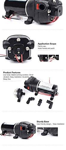 GSLOOK AC110V/115V High Pressure Diaphragm Water Pump 160PSI 8L/min, Self-priming Misting Booster Pump Sprayer for Caravan/RV/Boat/Marine by GSLOOK (Image #5)