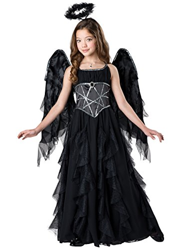 Fun World Girl 70548 Dark Angel Costume, Black -