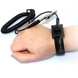 Zitrades Anti Static Wrist Strap Band Grounding, Black