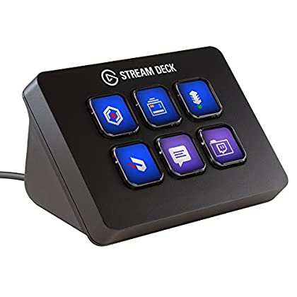 Elgato Stream Deck Mini - Live Content Creation Controller with 6 customizable LCD keys, for Windows 10 and macOS 10.11 or later