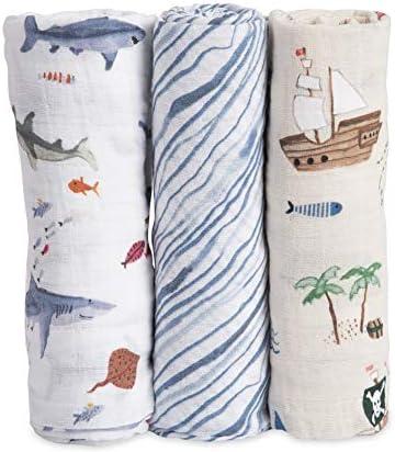 Muselina Algodon Shark Set 120x120 3uds: Amazon.es: Bebé