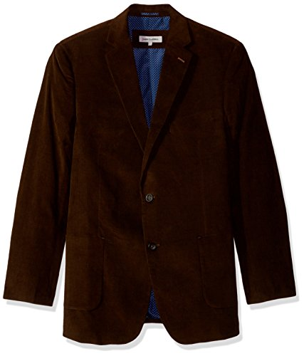 James Campbell Men's Corduroy Tall Sportcoat, Chocolate, S