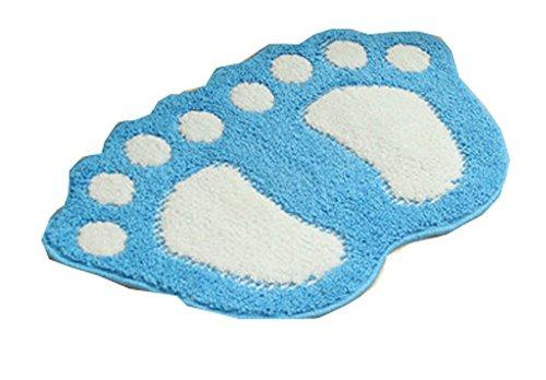 PANDA SUPERSTORE Creative Cute Huge Feet Absorbent Non-Slip Special Mats (40 By 60cm) BLUE