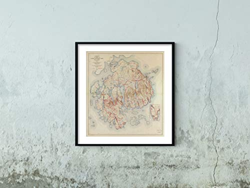 (1942 Topographic Map, Acadia National Park and Vicinity, Hancock County, Maine.|Historic Vintage Antique Wall Map|22
