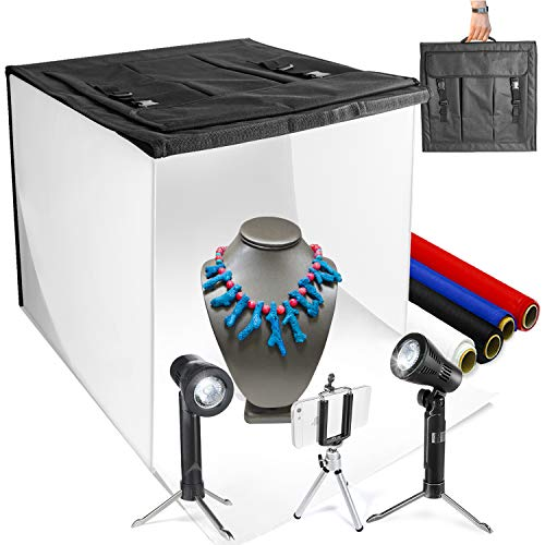 "LimoStudio 16"" x 16"" Table Top Photo Photography Studio LED Lighting, Light Tent Kit in a Box, Photo Background Shooting Tents, AGG349 from LimoStudio"