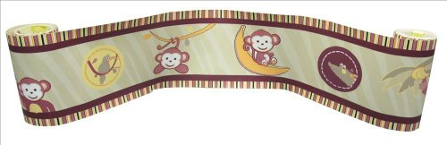 - Wall Border for Jungle Monkey - Green Baby Bedding Set By Sisi Baby Design