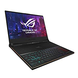 "ASUS ROG Zephyrus S Ultra Slim Gaming Laptop, 15.6"" 144Hz IPS-Type Full HD, GeForce RTX 2080, Intel Core i7-8750H CPU, 16GB DDR4, 512GB PCIe Nvme SSD, Aura Sync RGB, Windows 10 Pro – GX531GX-XS74"