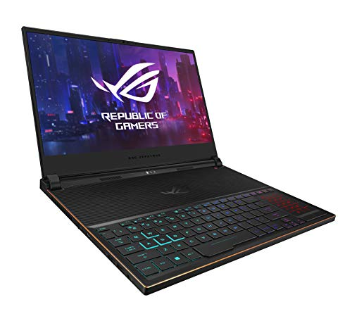 ROG Zephyrus S Ultra Slim Gaming Laptop, 15.6? 144Hz IPS-Type Full HD, GeForce RTX 2080, Intel Core i7-8750H CPU, 16GB DDR4, 512GB PCIe NVMe SSD, Windows 10 Pro - GX531GX-XS74