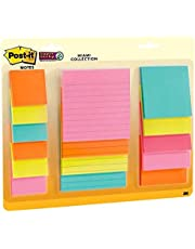 """Post-it Notes Super Sticky Notes, 2"""" x 2"""", 3"""" x 3"""", 4"""" x 4"""", Multi Pack, Miami Colours"""
