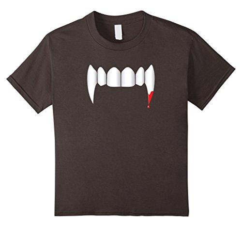 Modern Vampire Costumes Ideas (Kids Vampire Fangs T-Shirt Fun Trendy Halloween Vampy Costume 12 Asphalt)