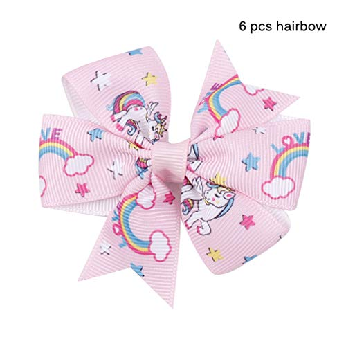 (Jyliolom.DR 5Y/Lot 25Mm Unicorn Rainbow Grosgrain Ribbon DIY Handmade Materials Sofa Bed Decorative Home Textile Printed hairbow 01)
