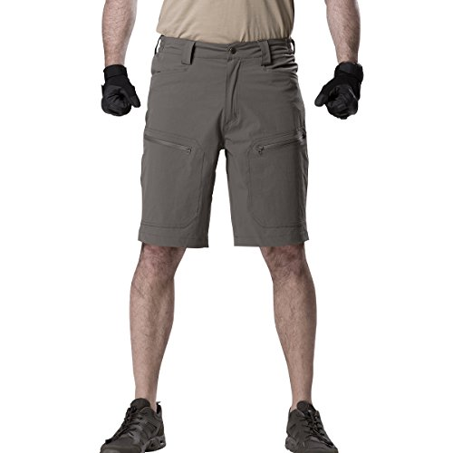 - FREE SOLDIER Men's Cargo Shorts Ultralight Quick Dry Stretch Short Nylon Tactical Pants Shorts (Dark Gray, 38W)