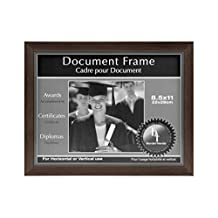 BorderTrends Legacy 8.5x11-Inch Photo or Document Frame, Silver