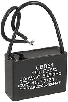 DealMux Ventilador de Techo Condensador CBB61 1.5uf 400VAC 2 ...
