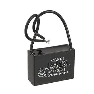 DealMux Deckenventilator Kondensator CBB61 1.5uf 400VAC: Amazon.de ...