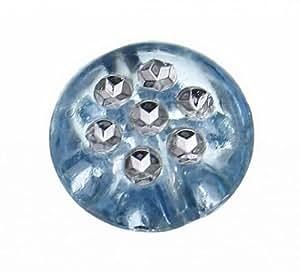 EOZY 100 G colour azul achatado granos Spacer perlas artesanía DIY tamaño collar con pedrería: 10.2 x 4.9 mm Agujero: 1.8 mm
