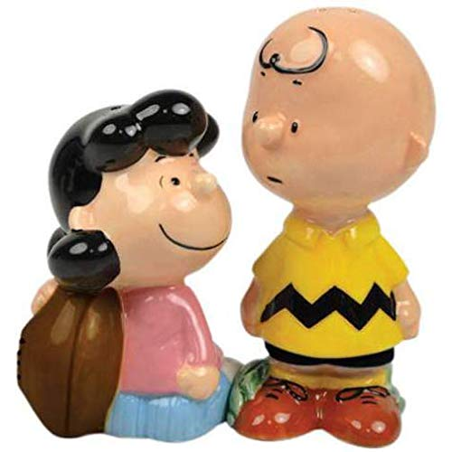 Westland Giftware Peanuts Magnetic Lucy and Charlie Football Salt and Pepper Shaker Set, 3-3/4-Inch ()