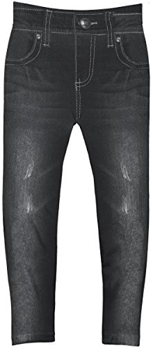 Crush Toddler Girls Blue Jean Print Leggings in 7 Fun Styles in Sizes 2T-4T (2T-4T, 22492 Black) by Crush (Image #1)