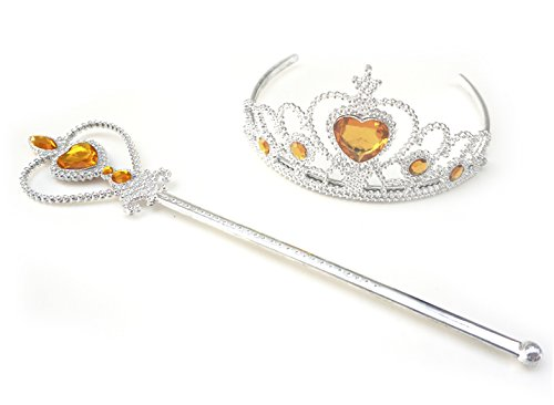 Kuzhi Frozen Crown Tiara and Wand Set -