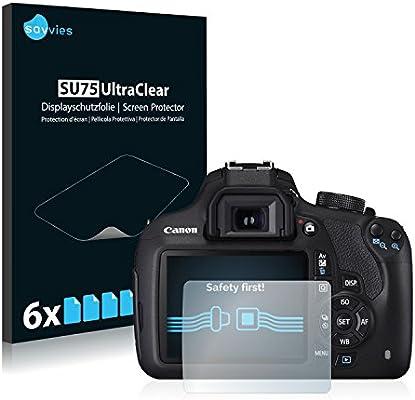 savvies Protector Pantalla Compatible con Canon EOS 1200D (6 ...