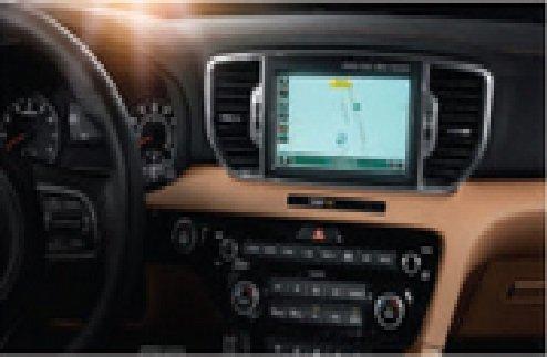 Kia Sportage 2016-2017 Factory Multimedia System and Installation Kit w/GPS Bluetooth HD 1080P Video Player/Recorder WiFi USB SD Rear View (KIA-SPO-9-1617 & FFMS-9) by Lessco Electronics
