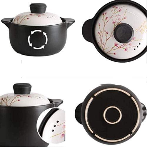 POETRY Casserole en céramique de Cuisine avec Couvercle Pot à Soupe à Haute température Taille du Pot à ragoût: 2,5 L