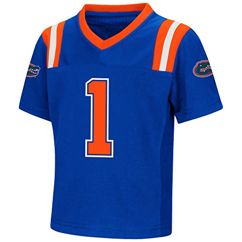 - Colosseum NCAA Toddler-Play Action Pass-#1 Team Football Jersey-Florida Gators-2T