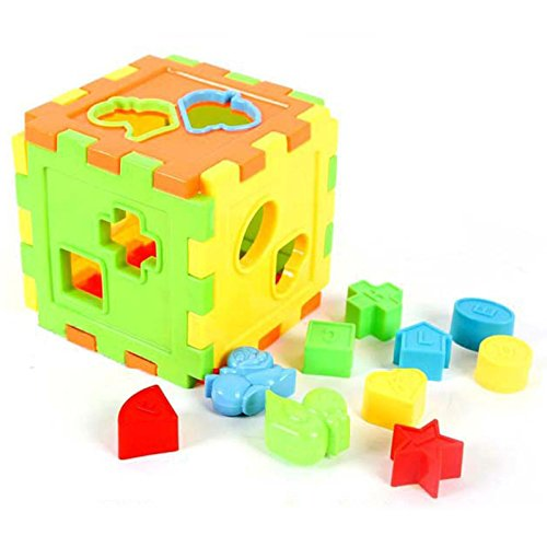 Colorful Math Square Matching Blocks Educational Toys Early Childhood Learning Toy