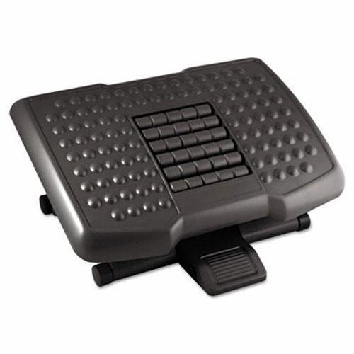 Kantek Premium Adjustable Footrest w/Rollers, 18w x 13d x 4h, Black (3 Units)