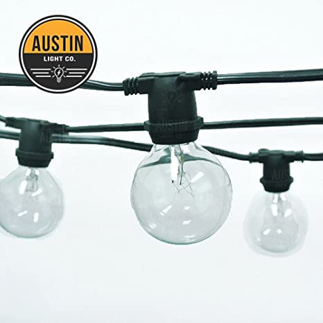 Outdoor Commercial String Globe Lights - 24ft - 24 Sockets and bulbs + 3 extra replacement bulbs. Great for patio, party, restaurant, home, bistro, weddings, backyards.
