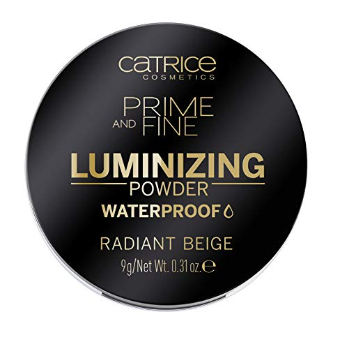 Catrice | Prime and Fine Luminizing Waterproof Powder | Universal Beige Color For All Skin