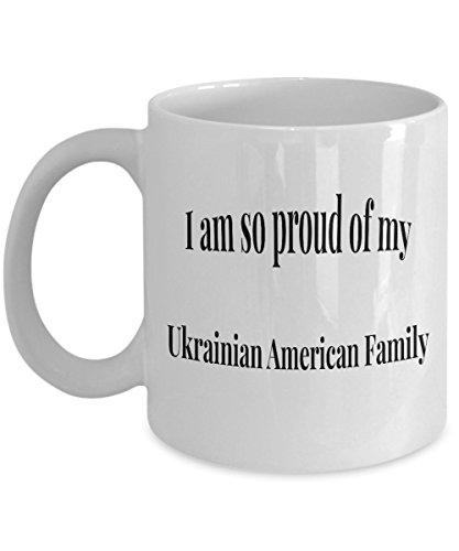 Ukraine Coffee Cup Mug I'm so Proud of My Ukrainian Roots I am So Proud Of My Ukrainian American (Ukrainian Vodka)