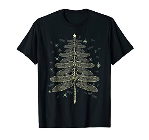 Dragonfly Christmas Tree Xmas T-shirt Bugs Lover