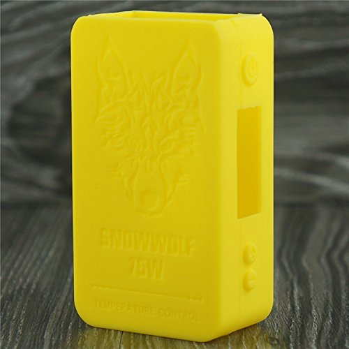Silicone Case for SnowWolf Mini 75w Temp Control Snow Wolf Mini Sleeve Cover Skin Wrap (Yellow)