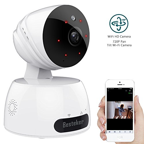 Wireless Security IP camera ,Besteker Home Wifi Video Surveillance Camera Baby Monitor with Motion Detection,...