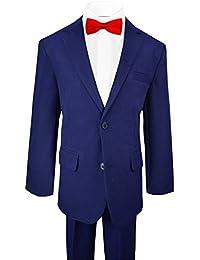 Black n Bianco Big Boys Tuxedo Suit w/Bow Tie Vest