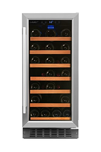 Smith & Hanks RW88SR 34 Bottle Under Counter Wine Refrigerator, 15 Inches Wide, Use Built In Or Free Standing (34 Bottle Wine Cellar)