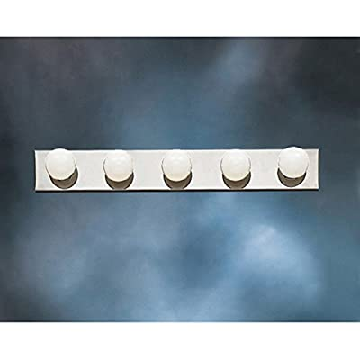 Kichler 628NI, Bath and Vanity Wall Vanity Lighting, 8 Light, 480 Total Watts, Brushed Nickel