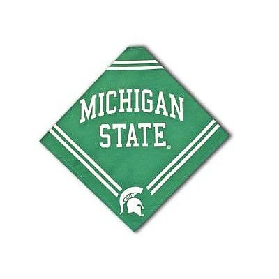 Collegiate Michigan State Spartans Pet Bandana, Medium/Large - Dog Bandana must-have for Birthdays, Parties, Sports Games etc.