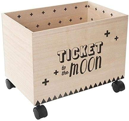 Atmosphera Créateur d'intérieur 2 x Toy Box, Wheel Box, Wheel Container, Storage Box, Wooden Box