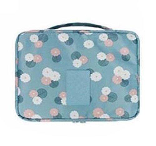 Bluestercool Spielraum-Kosmetik Kulturtasche Aufbewahrungstasche Wash Organizer Handtasche (Blau)