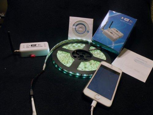 16 Ft - Extreme AC Wall Plug - Wifi Controlled 5050 RGB Waterproof LED Strip Light Kit 5.0