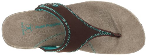 Hush Puppies Zendal del dedo del pie de la sandalia Pst Q113 Dark Brown Multi