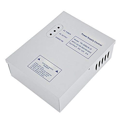 Taidda Door Access Control Power Supply, DC 12V/5A AC 110-240V Door Access Control System Switching Supply Power UPS Power Supply