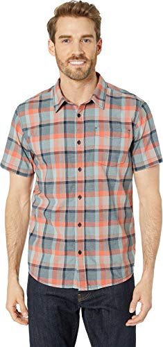 (prAna Men's Bryner Slim Fit Shirt Agave)